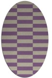 rug #1194931 | oval purple geometry rug