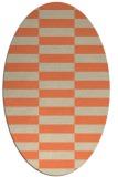rug #1194963 | oval beige geometry rug