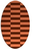 rug #1194967 | oval red-orange check rug