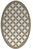 rug #119497 | oval white borders rug