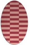 rug #1194979   oval pink check rug