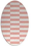 rug #1194983 | oval white geometry rug
