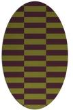 rug #1194991 | oval purple check rug