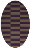 rug #1194995 | oval purple check rug