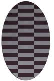 rug #1194999 | oval purple check rug