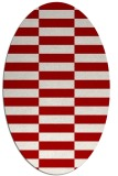 rug #1195003 | oval red check rug