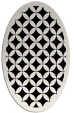 rug #119501 | oval black circles rug