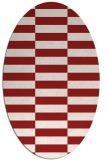 rug #1195011 | oval red check rug