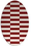 rug #1195013 | oval check rug