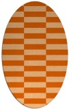 rug #1195023 | oval red-orange check rug