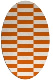 rug #1195031 | oval red-orange check rug
