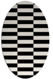 rug #1195035 | oval white geometry rug