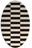 rug #1195047   oval brown check rug