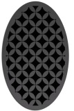 rug #119505 | oval black traditional rug