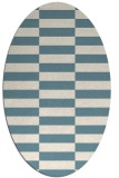rug #1195055 | oval white graphic rug