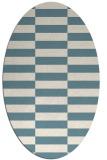 rug #1195055 | oval white check rug