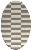 rug #1195059 | oval white check rug