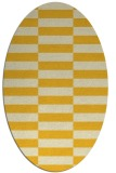 rug #1195063 | oval yellow check rug