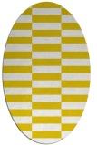 rug #1195071 | oval white check rug