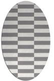 rug #1195074 | oval check rug