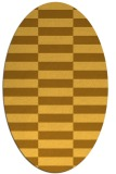 rug #1195075 | oval yellow check rug