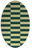 rug #1195079 | oval yellow check rug