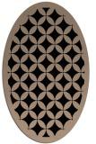 rug #119509 | oval beige geometry rug