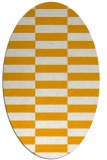 rug #1195099 | oval light-orange check rug