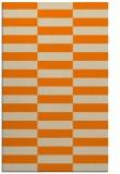 rug #1195111 |  orange check rug