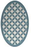 rug #119521 | oval white geometry rug