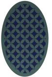 rug #119529 | oval blue borders rug