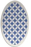rug #119537 | oval blue borders rug