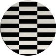 rug #1195483 | round white geometry rug