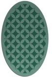 rug #119553 | oval blue-green circles rug