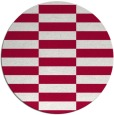 rug #1195595 | round red check rug