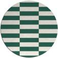 rug #1195615 | round blue-green check rug