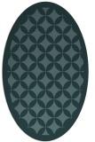 rug #119569 | oval blue-green circles rug