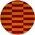 rug #1195691 | round red-orange check rug