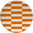 rug #1195695 | round orange graphic rug