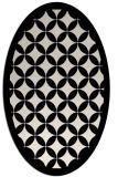 rug #119573 | oval blue-green circles rug