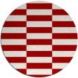 rug #1195739 | round red check rug