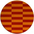 rug #1195743 | round orange check rug