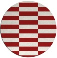 rug #1195747 | round red check rug