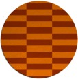 rug #1195755 | round red-orange check rug