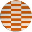 rug #1195767 | round red-orange check rug