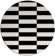 rug #1195771 | round black geometry rug