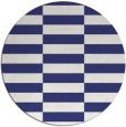 rug #1195779 | round white check rug