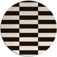 rug #1195783 | round brown check rug