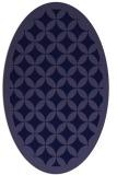 rug #119581   oval blue-violet borders rug