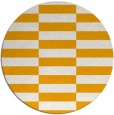 rug #1195835 | round light-orange check rug